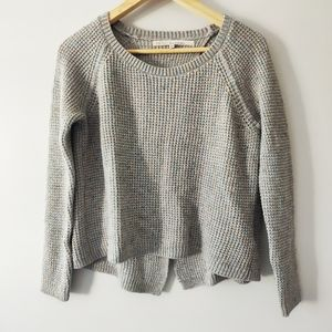 Rachel Roy Grey Sparkly Sweater with open back